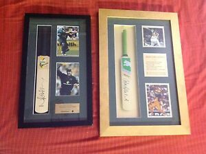 Cricket signed framed mini bats Alexandra Hills Redland Area Preview