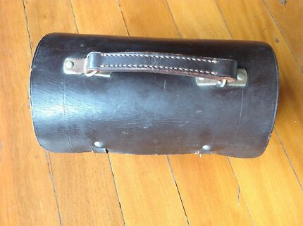 Brown Solid Leather Lawn Bowls Carry Bag Case – 2 bowls