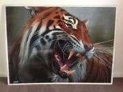 Extra Large Airbrush tiger painting-AFL Richmond Tigers Premiers 2017 Caroline Springs Melton Area Preview