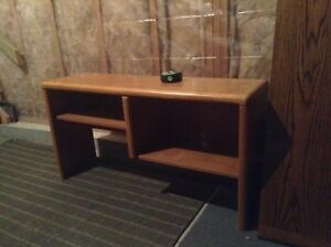 Solid oak desk hutch