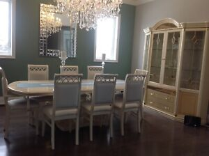 Beautiful 10 piece formal dining room set for sale