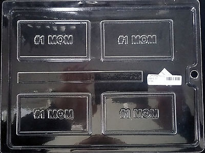 Mother's Day #1 MOM Business Card Chocolate Plastic Candy Soap Mold LOP BC-31 Card Chocolate Mold Soap