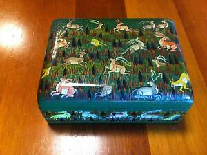 Paper mache Kashmir jewelry box, hand painted, Indian box, ethnic Hamersley Stirling Area Preview
