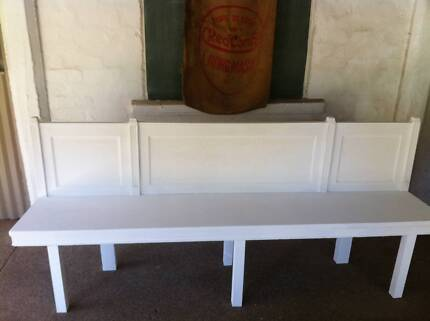 Vintage Upcycled Church Pew Indoor Outdoor