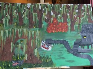 Swamp scene New Painted Canvas