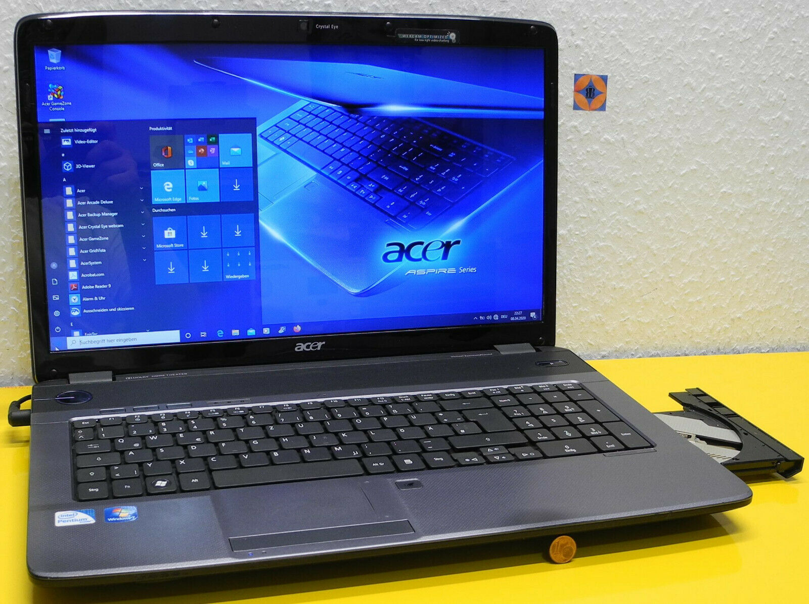 Acer Aspire 7736ZG 17,3 zoll Laptop Intel 2,1GHz top Zustand Garantie