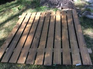 Fence panel and 4 (4 by 4) fence posts new condition $50