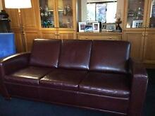 100% Italian Leather 3 seater Lounge Italian made excellent con. Altona Hobsons Bay Area Preview