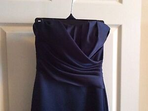 Prom time- Navy strapless -long dress