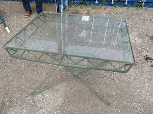 Hauser Glass Top Table