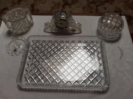 Phoenix Lead Crystal Dressing Table Set | Collectables | Gumtree ...