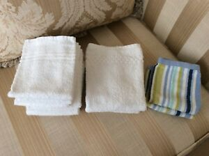 10 WASHCLOTHS IN VERY GOOD CONDITION