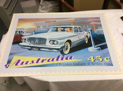 Australia Post R Series Valiant Vynil Decal / Poster