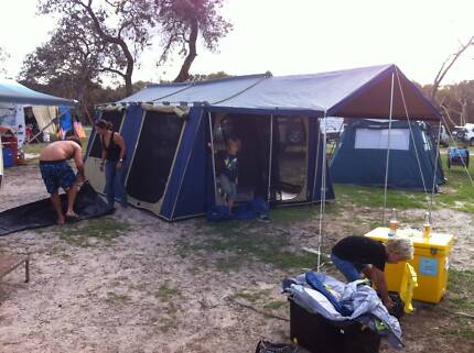 Oztrail Cabin Tent 12 x 15 & Oztrail 12x15 Canvas Cabin Tent | Camping u0026 Hiking | Gumtree ...