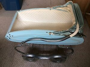 Beautiful vintage powder blue doll carrier