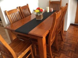 Wooden DIning Table and 6 Seats for Sale