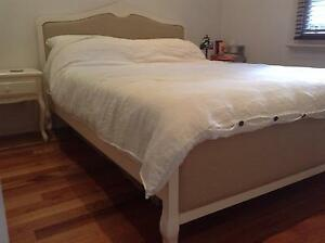 Beautiful Queen bed frame and matching bedside draws from Domayne Carlton Melbourne City Preview