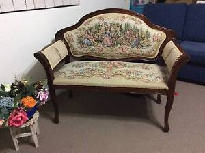 FRENCH-STYLE-QUEEN-ANNE-LEGS-ANTIQUE-LOOK-TWO-SEATER Strathfield Strathfield Area Preview