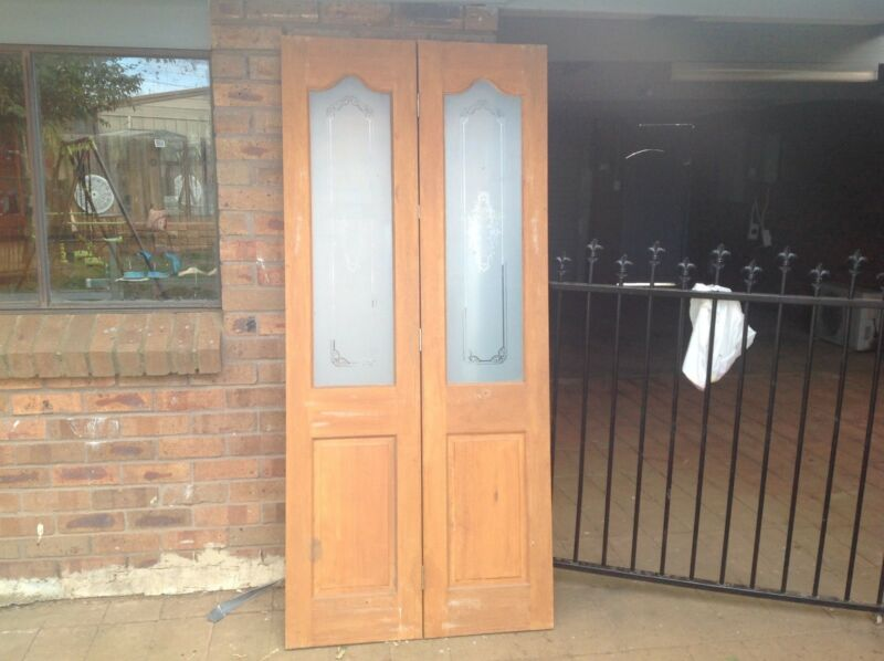 1 of 3 & Folding wood and glass doors | Building Materials | Gumtree ...