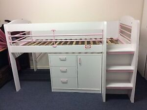 kids bunk bed with draws/cupboard Bateau Bay Wyong Area Preview