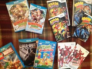 Wii u and wii games great shape, like new