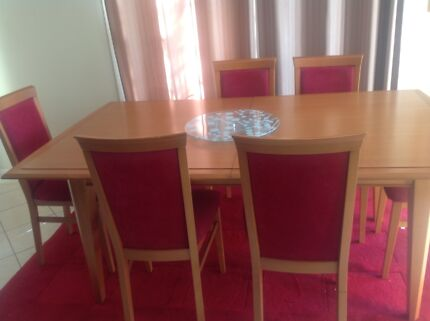 Expandable  dining  table with 8 chair Greenleigh Queanbeyan Area Preview
