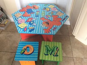 SESAME STREET TABLE & 2 CHAIRS
