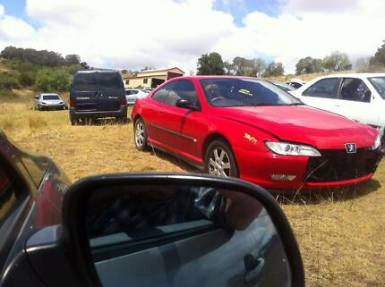 WRECKING PEUGEOT 406 COUPE MANUAL RED ALL PARTS FREE FREIGHT