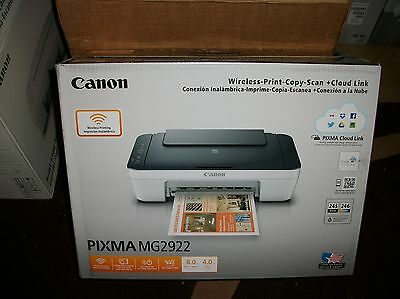 New Canon Pixma MG2922 WIRELESS All-In-One Inkjet Printer NO INK USB CABLE  2922