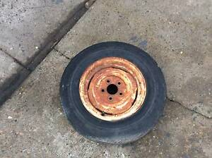 wheel rim & tyre 13 inch old holden Torana & HT stud patern suits Mount Druitt Blacktown Area Preview
