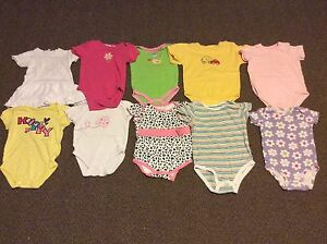 10 Baby Girl Onesies (Lot 1)