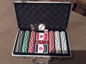 Poker chips.  New with 2 decks.