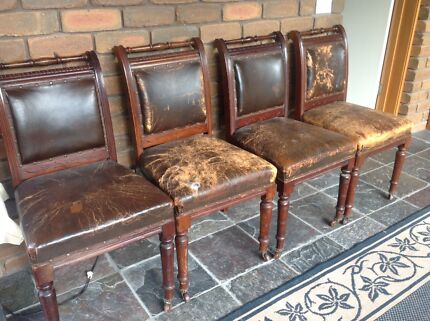 Edwardian Set Of 4 Dining Chairs