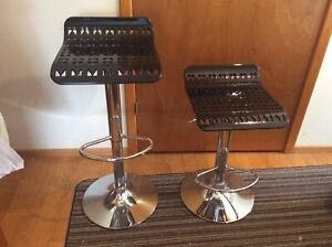 Two brand new swivel bar stools adjustable height