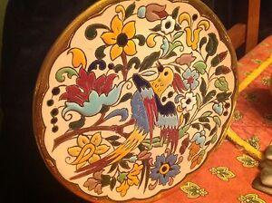 Sevilla plate vintage 24k gold