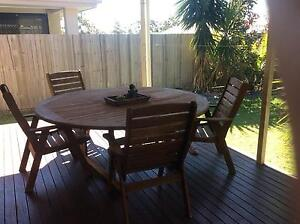 Solid Wood Outdoor Setting Springfield Lakes Ipswich City Preview