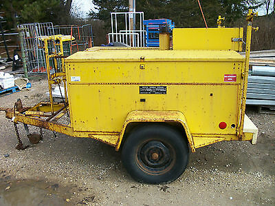 Hesco Mobile Power Unit - 7000 Watt Kohler Generator Air Compressor Hot Air