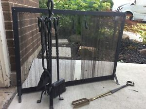 Fireplace Screen and Tool Set