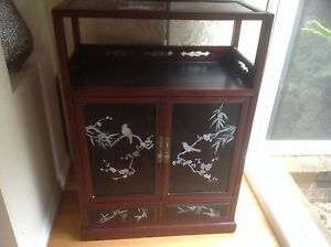 Antique mother of pearl inlay cabinet (authentic) Eltham Nillumbik Area Preview