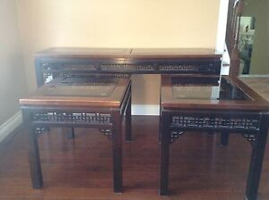 2 end tables and 1 console ($170.00 for all three)