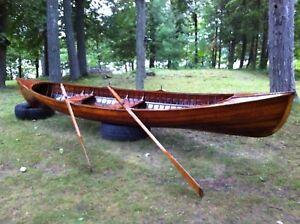 Antique Cedar Rowing Skiff