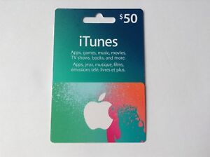 ITUNES $50 GIFT CARD!!! WILL TRADE!!!
