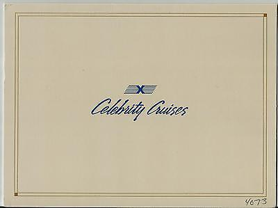 Ss Meridian   Celebrity Cruises  Vintage Ship Photo Cover   Cabin No 4073