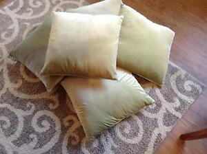 OLIVE GREEN SCATTER CUSHIONS X 5 Baldivis Rockingham Area Preview