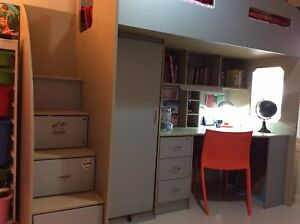 Bunk Bed with desk, book shelf and storage Oakden Port Adelaide Area Preview