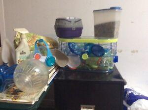 Cage hamster et accessoires