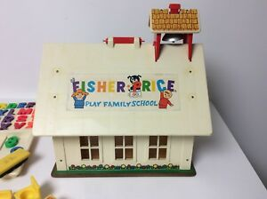 Fisher Price vintage Play Family School