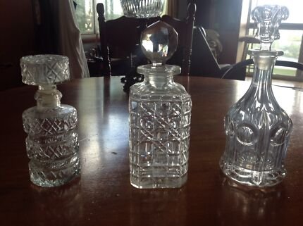 Liquor (Whiskey) Decanter's for drinks trolley