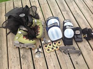 Bauer Sanctity Inline Rollerblades w/all accessories