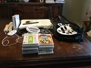 Large Wii Bundle including Guitar Hero, Wii Fit, Udraw and games